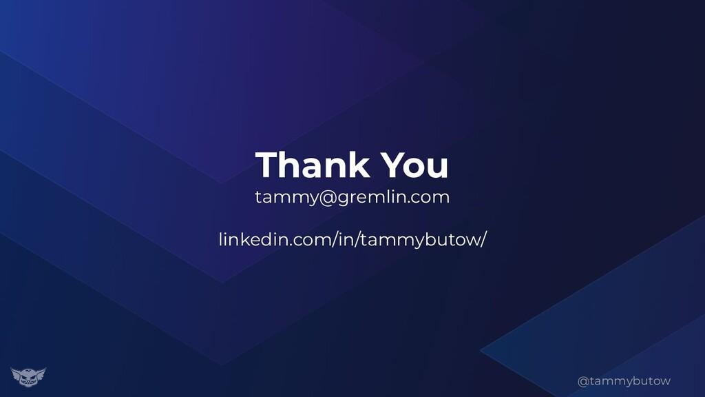 Thank You tammy@gremlin.com linkedin.com/in/tam...