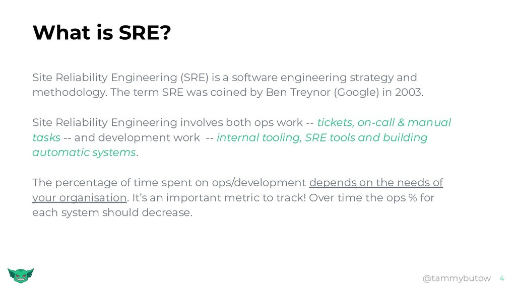 What is SRE? Site Reliability Engineering (SRE)...