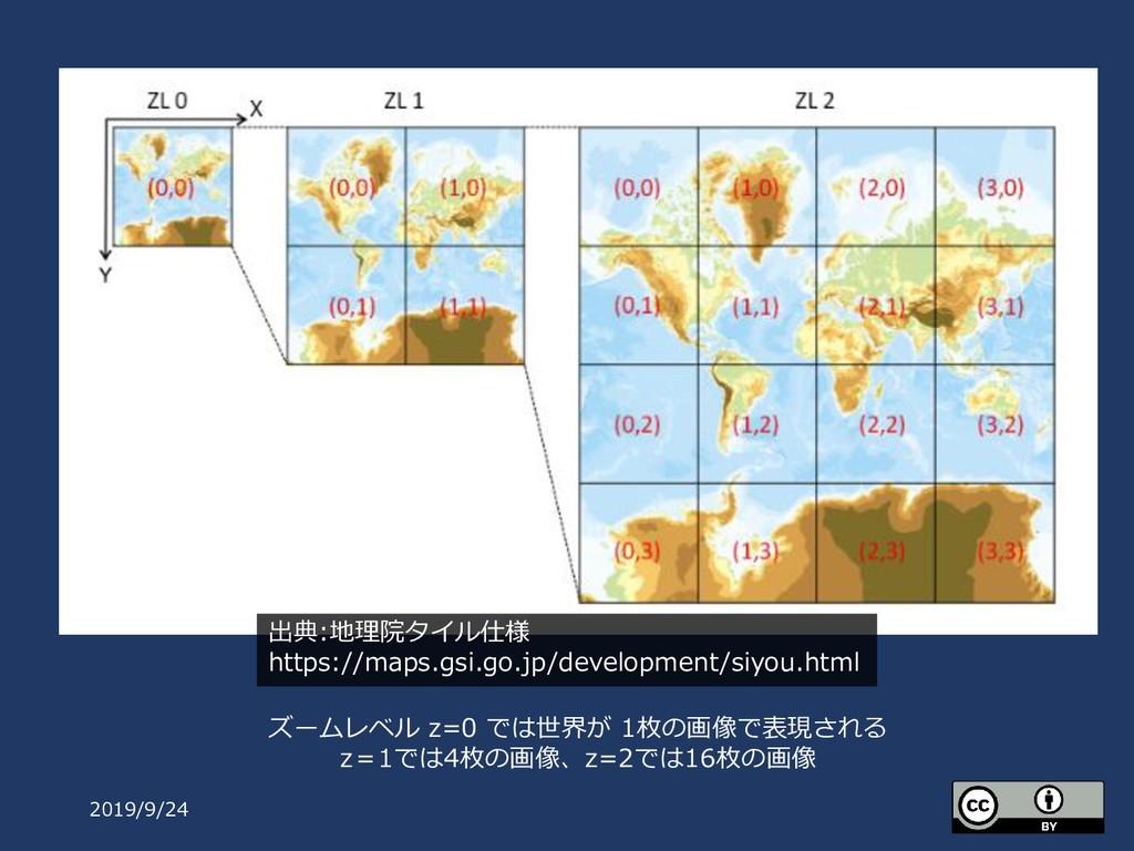 2019/9/24 出典:地理院タイル仕様 https://maps.gsi.go.jp/de...