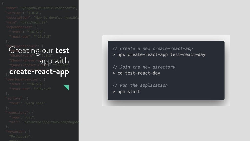 Creating our test app with create-react-app