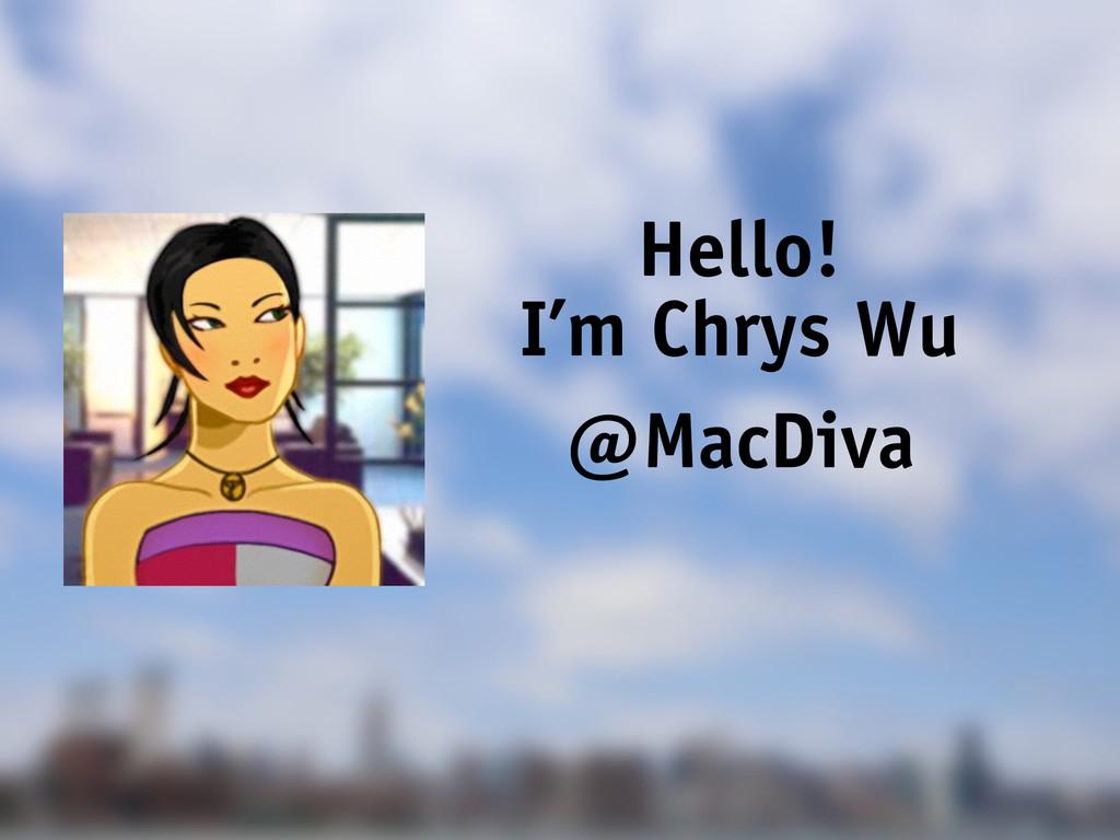 Hello! I'm Chrys Wu @MacDiva