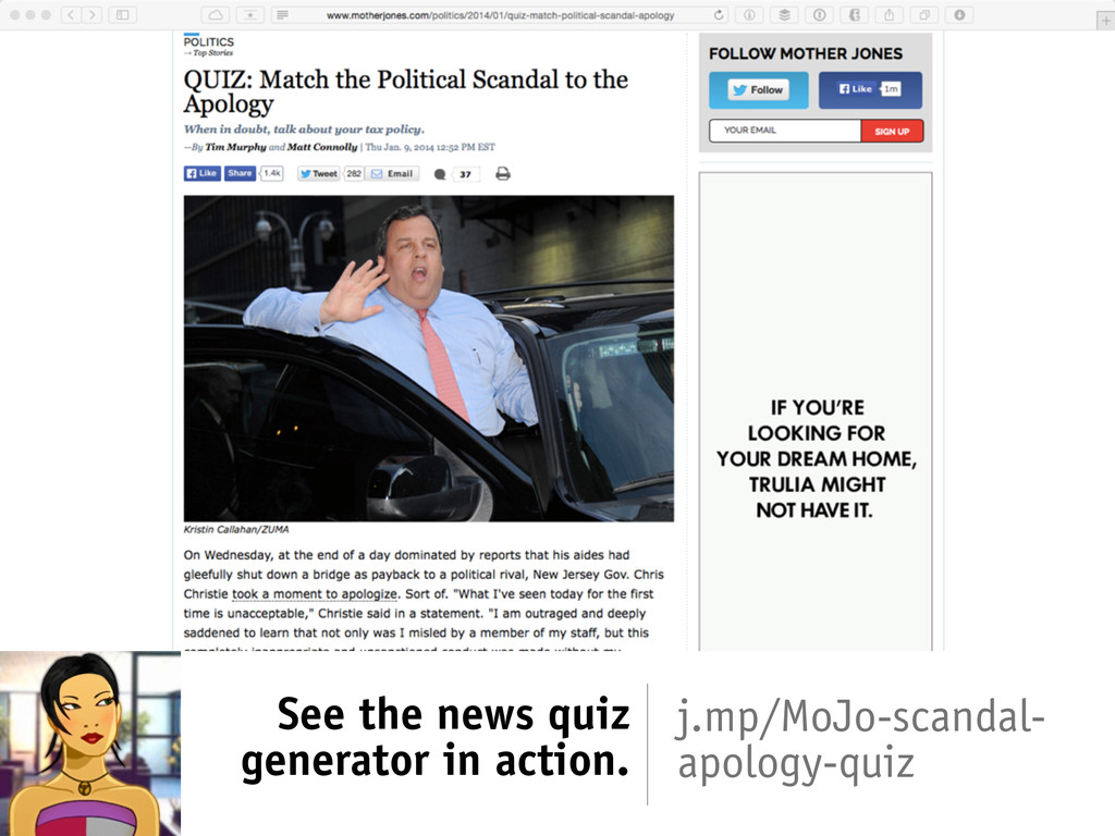 See the news quiz generator in action. j.mp/MoJ...