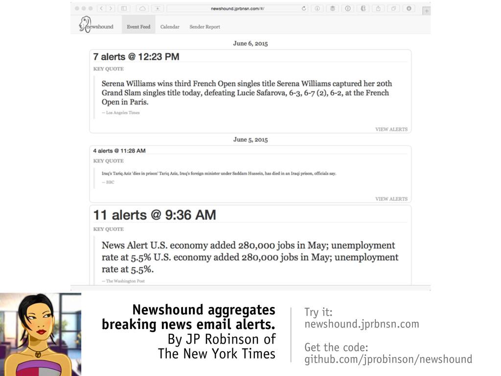 Newshound aggregates breaking news email alerts...