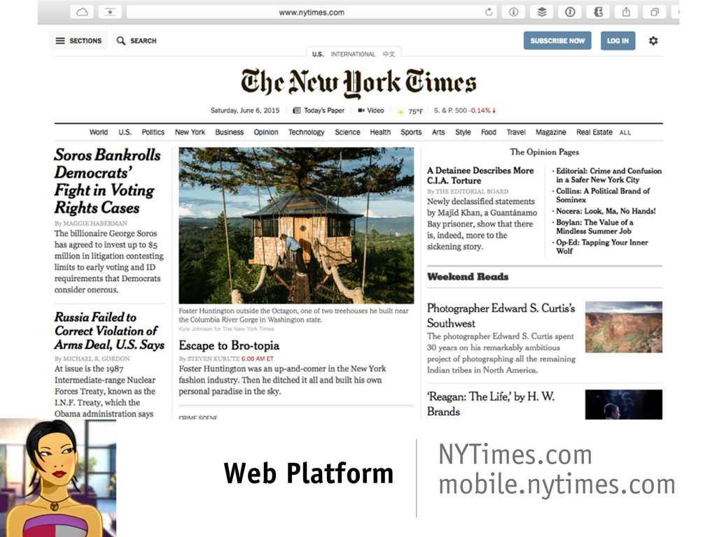 Web Platform NYTimes.com mobile.nytimes.com