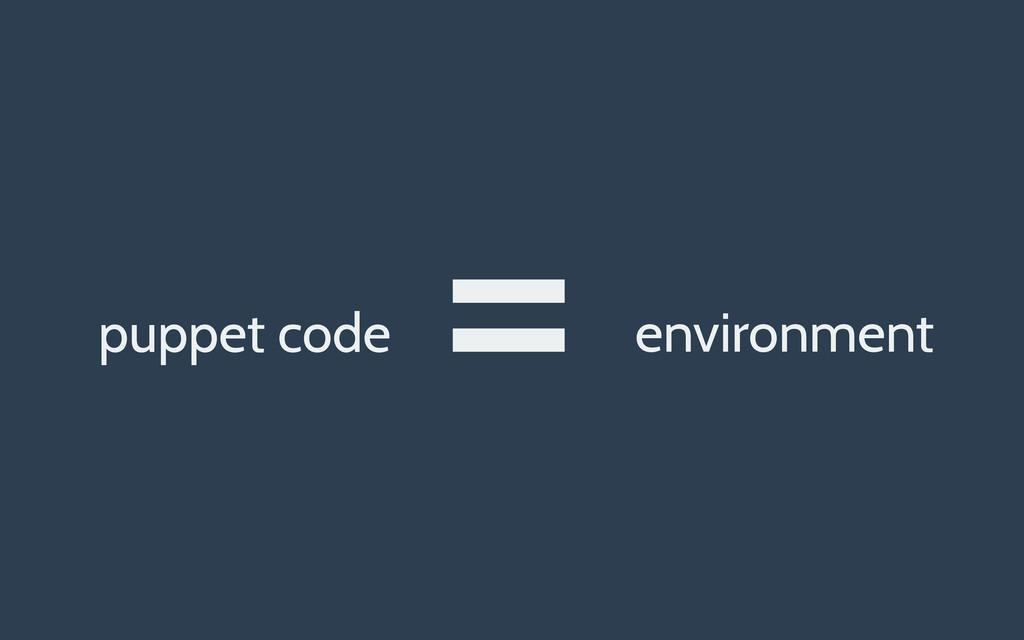 puppet code environment =