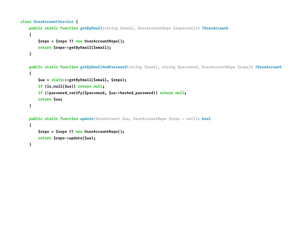 class UserAccountService { public static functi...