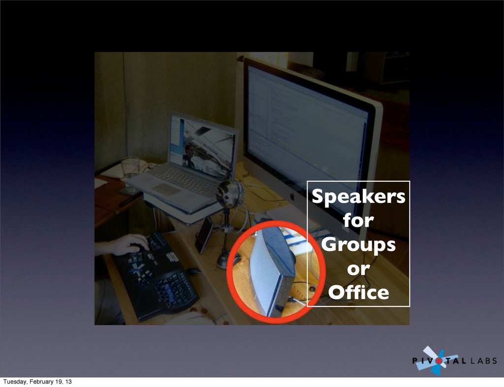 Speakers for Groups or Office Tuesday, February ...