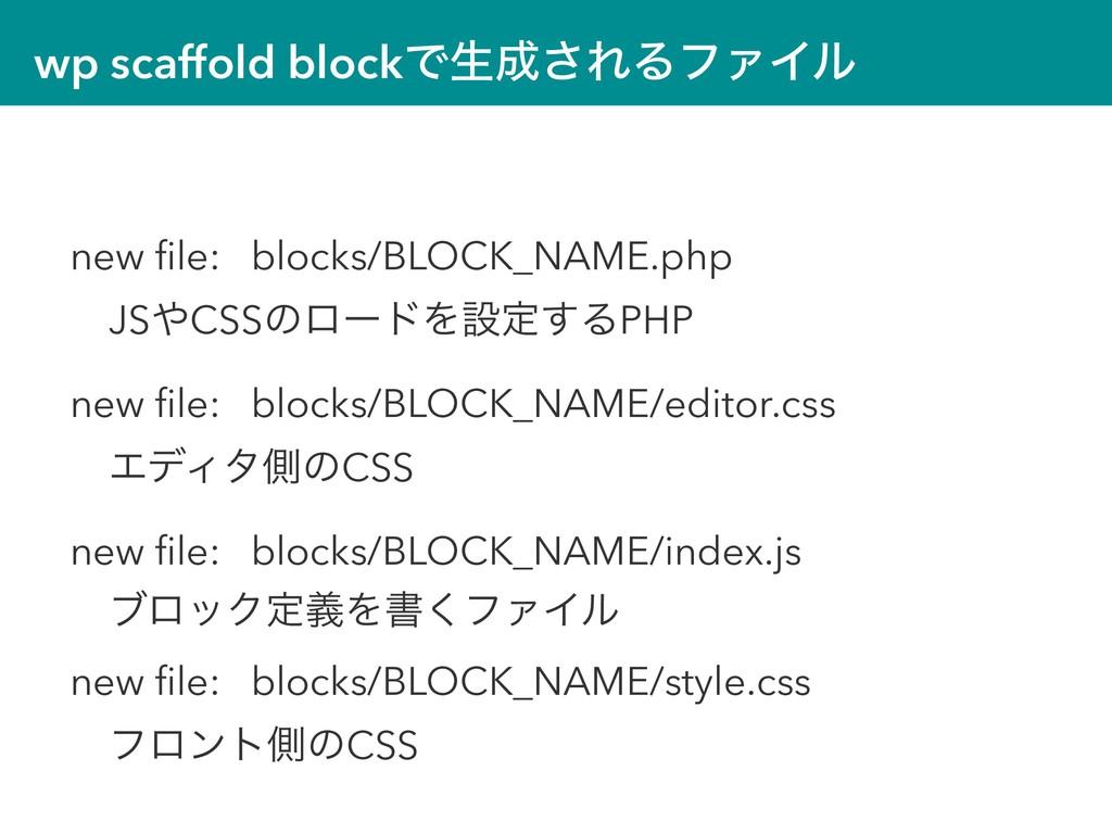wp scaffold blockͰੜ͞ΕΔϑΝΠϧ new file: blocks/BLO...