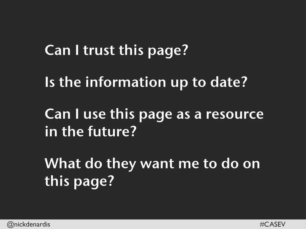 @nickdenardis #CASEV Can I trust this page? Is ...