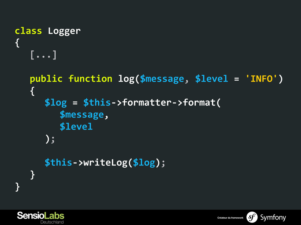 class Logger  {   [...]    ...