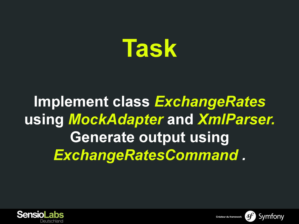 Task Implement class ExchangeRates using MockAd...