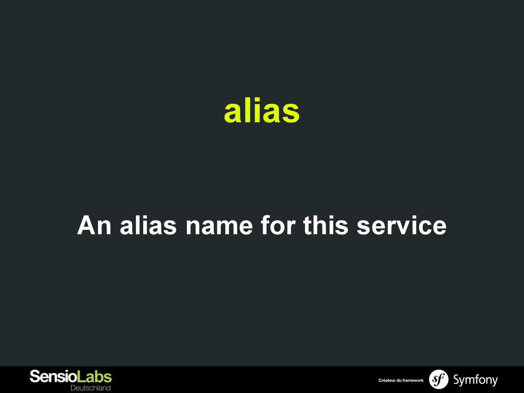 alias An alias name for this service