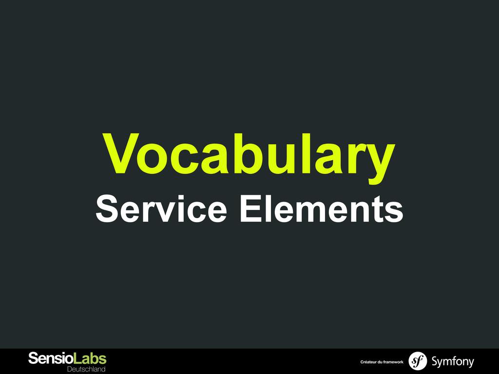 Vocabulary Service Elements