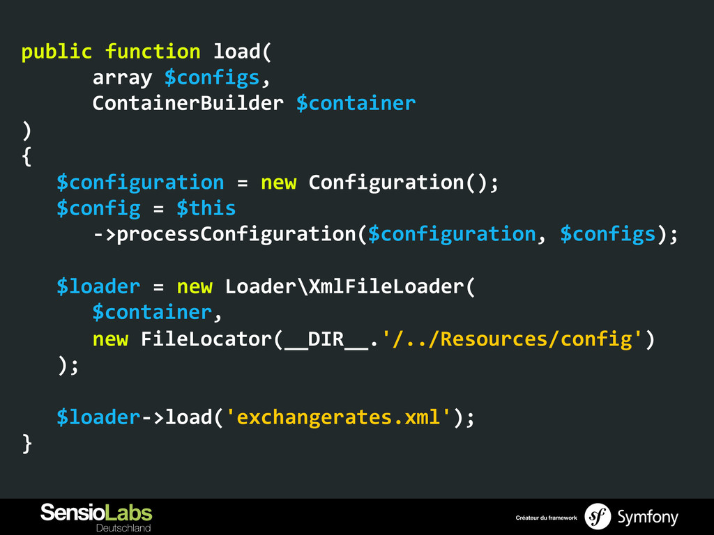public function load(     array...