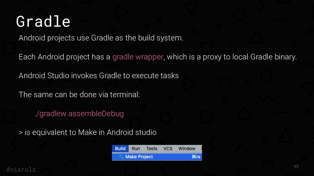 Gradle Android projects use Gradle as the build...
