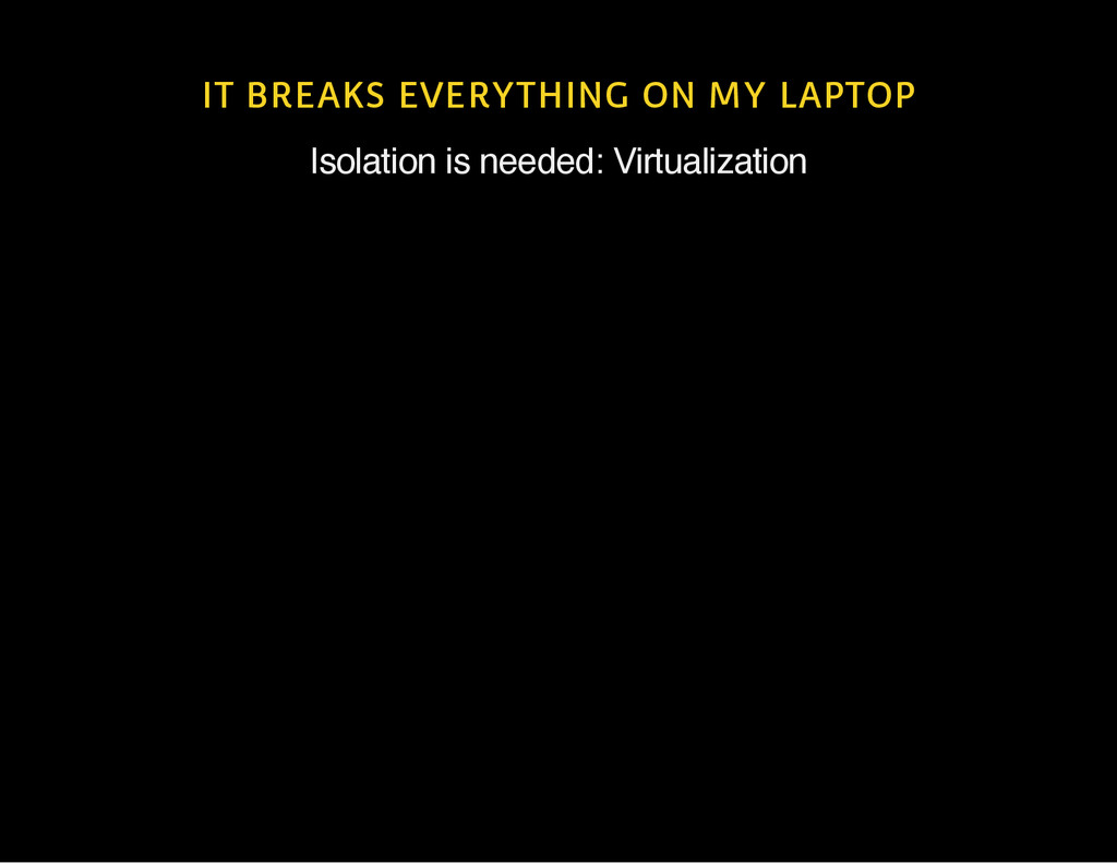 IT BREAKS EVERYTHING ON MY LAPTOP Isolation is ...