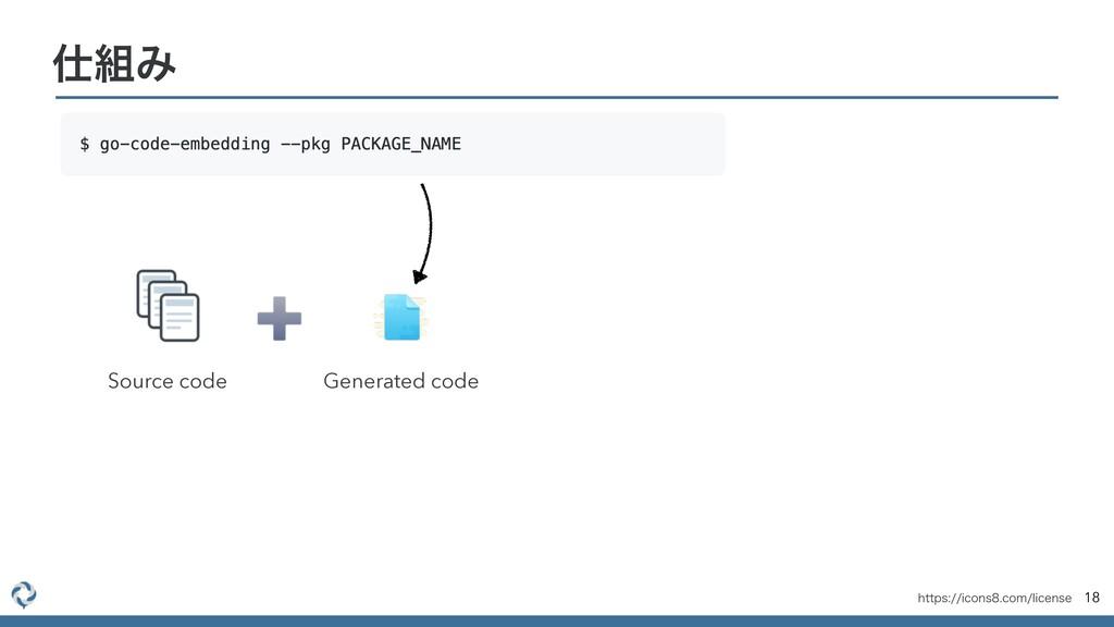 18 Έ Source code Generated code IUUQTJDPOT...