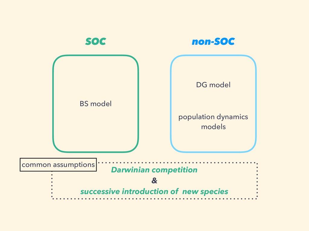 SOC non-SOC BS model DG model population dynami...