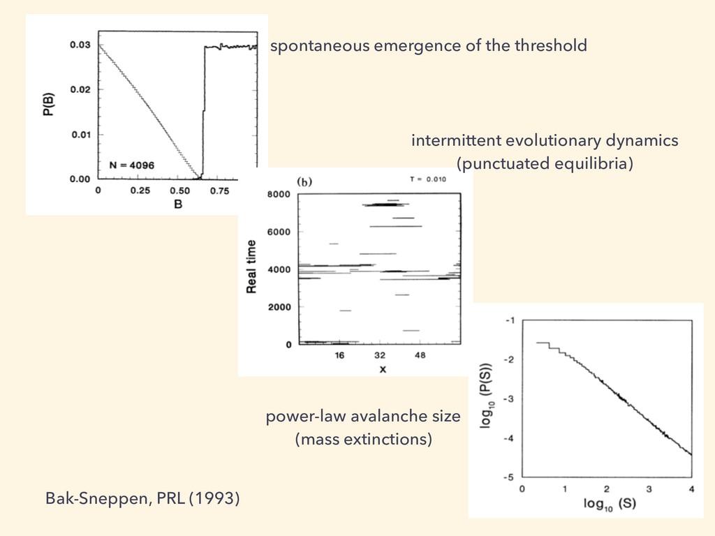 spontaneous emergence of the threshold intermit...