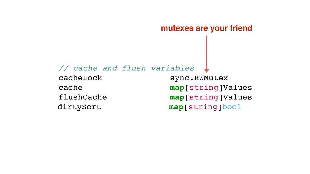 // cache and flush variables cacheLock sync.RWM...