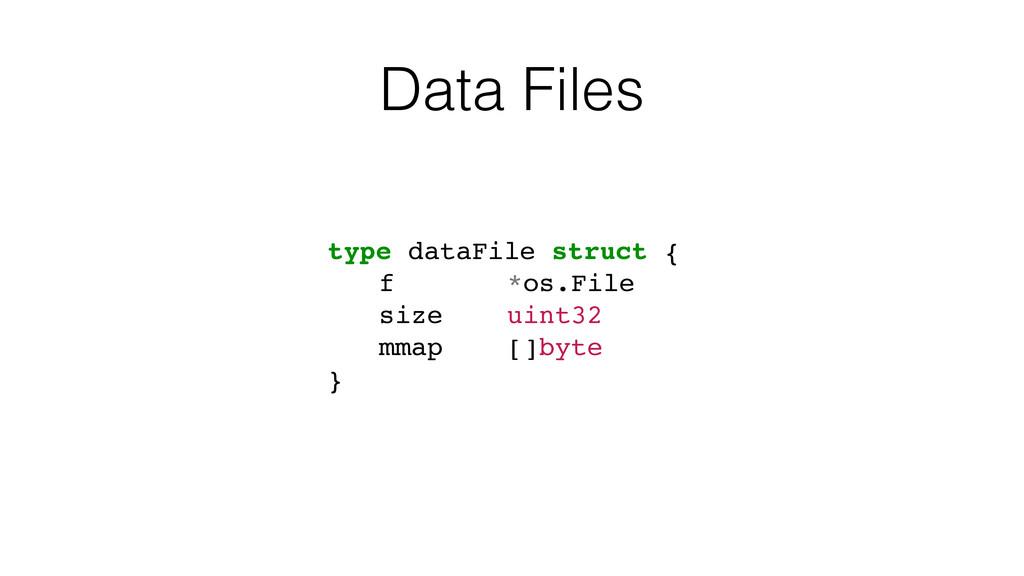 Data Files type dataFile struct { f *os.File si...