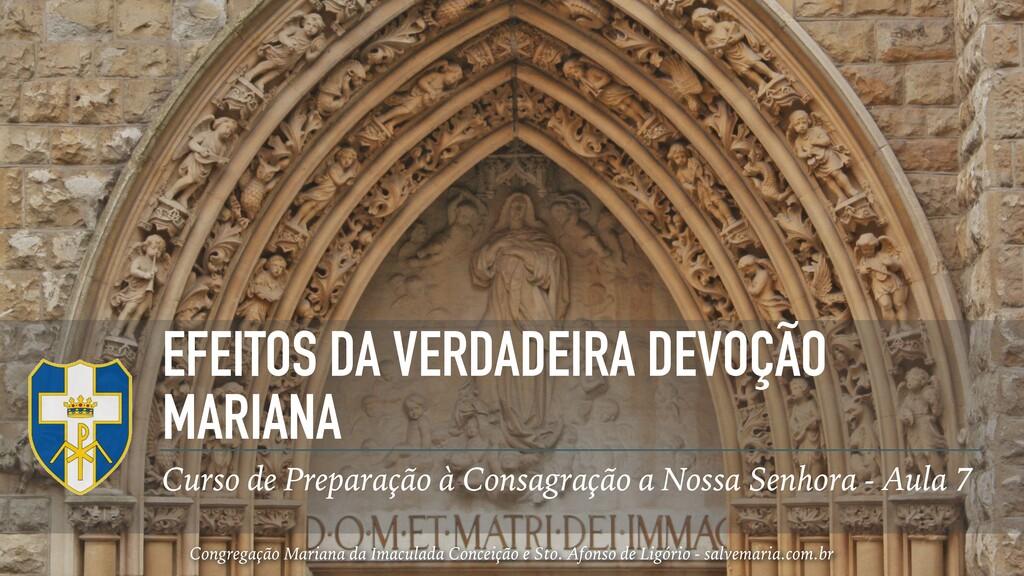 EFEITOS DA VERDADEIRA DEVOÇÃO MARIANA Curso de ...