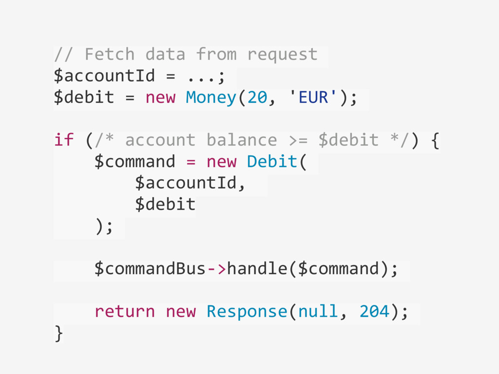 // Fetch data from request  $acc...