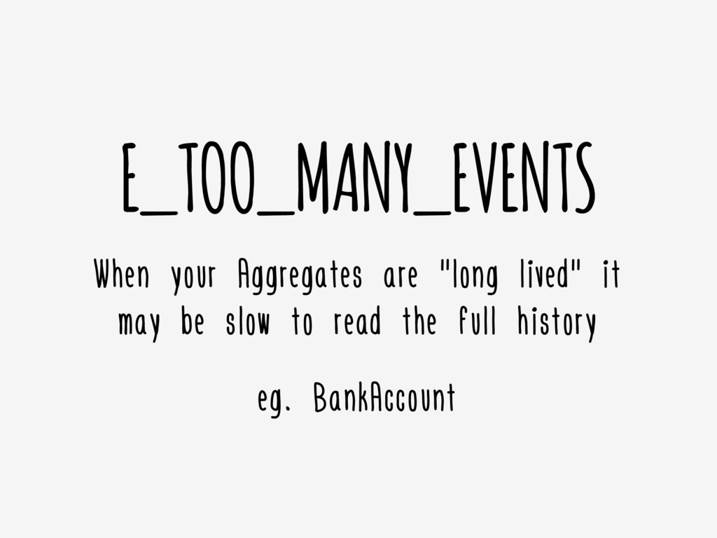 """E_TOO_MANY_EVENTS When your Aggregates are """"lon..."""