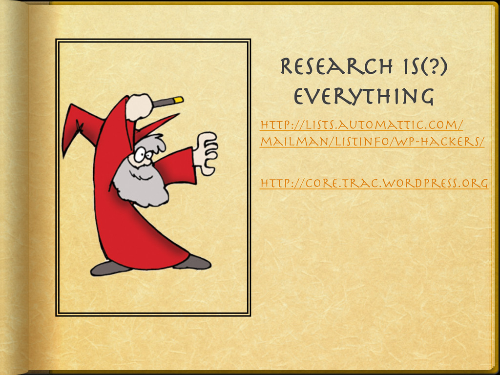 Research Is(?) Everything