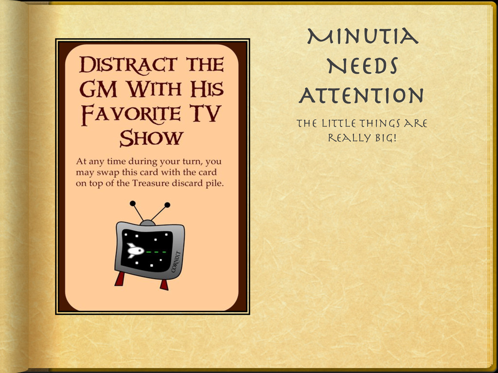 Minutia Needs Attention