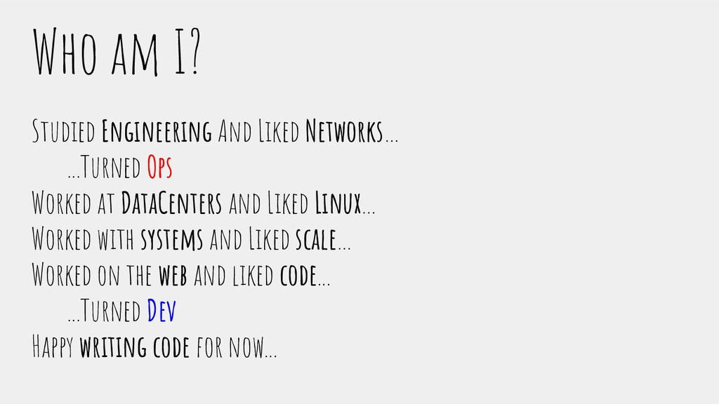 Who am I? Studied Engineering And Liked Network...