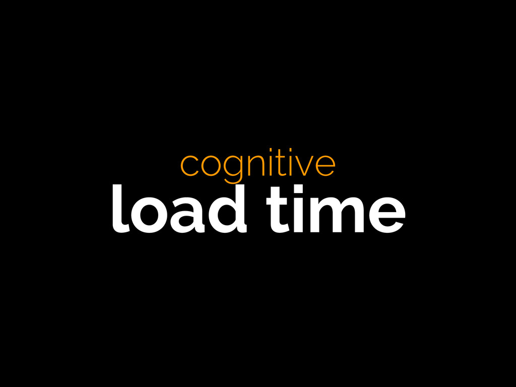 cognitive load time