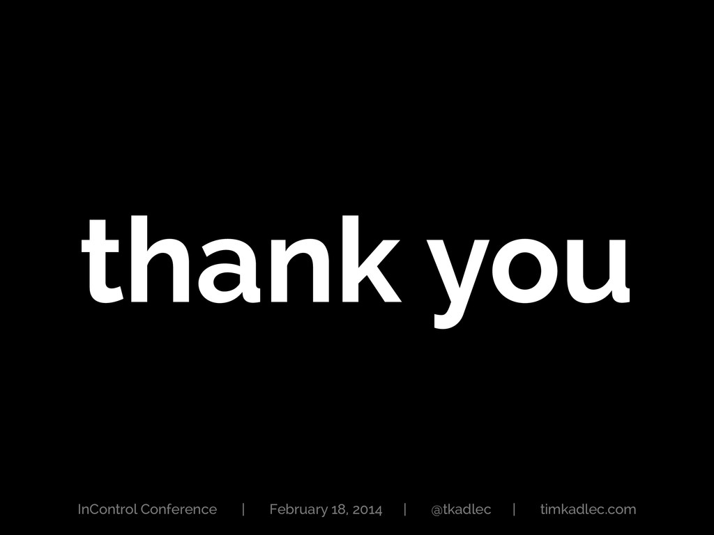 thank you InControl Conference | February 18, 2...