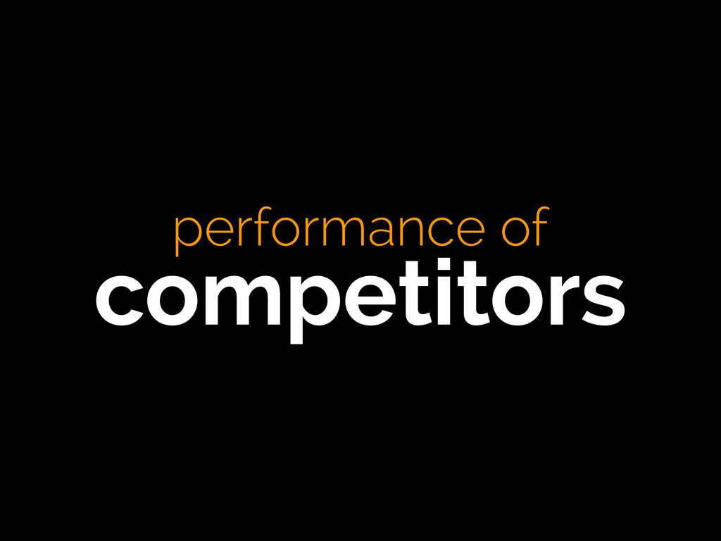 performance of competitors