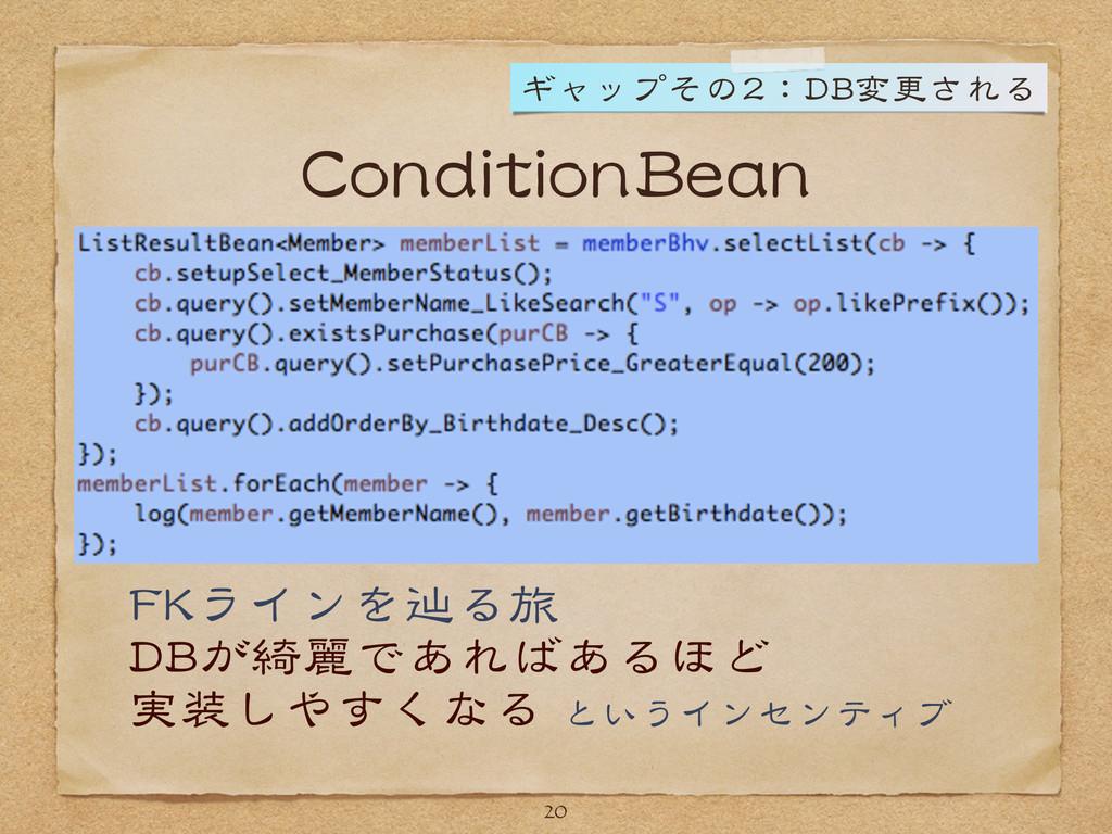 ConditionBean 20 FKラインを辿る旅  DBが綺麗であればあるほど  実装しや...