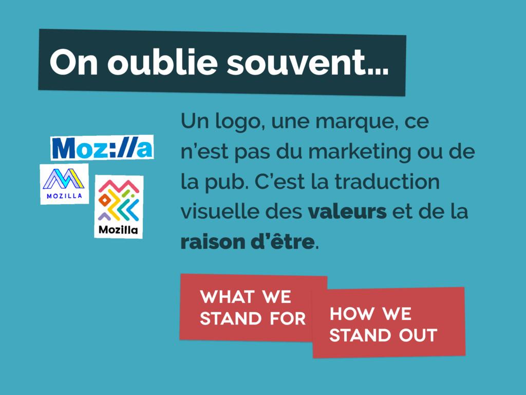 Un logo, une marque, ce n'est pas du marketing ...
