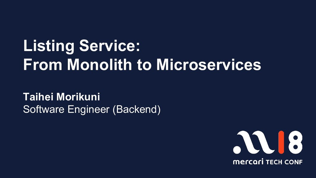 Listing Service: From Monolith to Microservices...