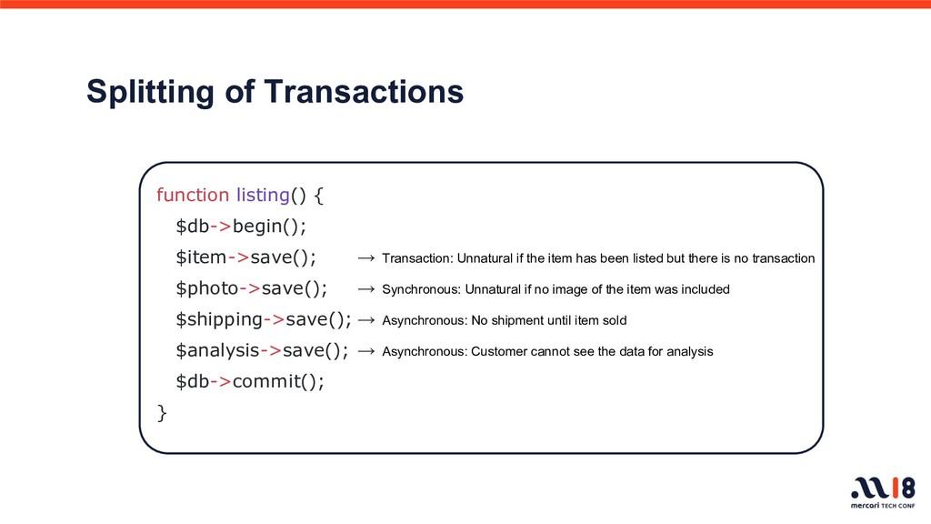 Splitting of Transactions → Transaction: Unnatu...
