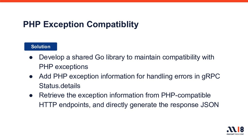 PHP Exception Compatiblity Solution ● Develop a...