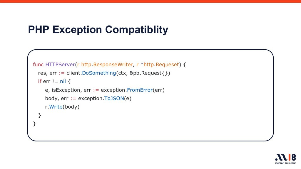 PHP Exception Compatiblity func HTTPServer(r ht...