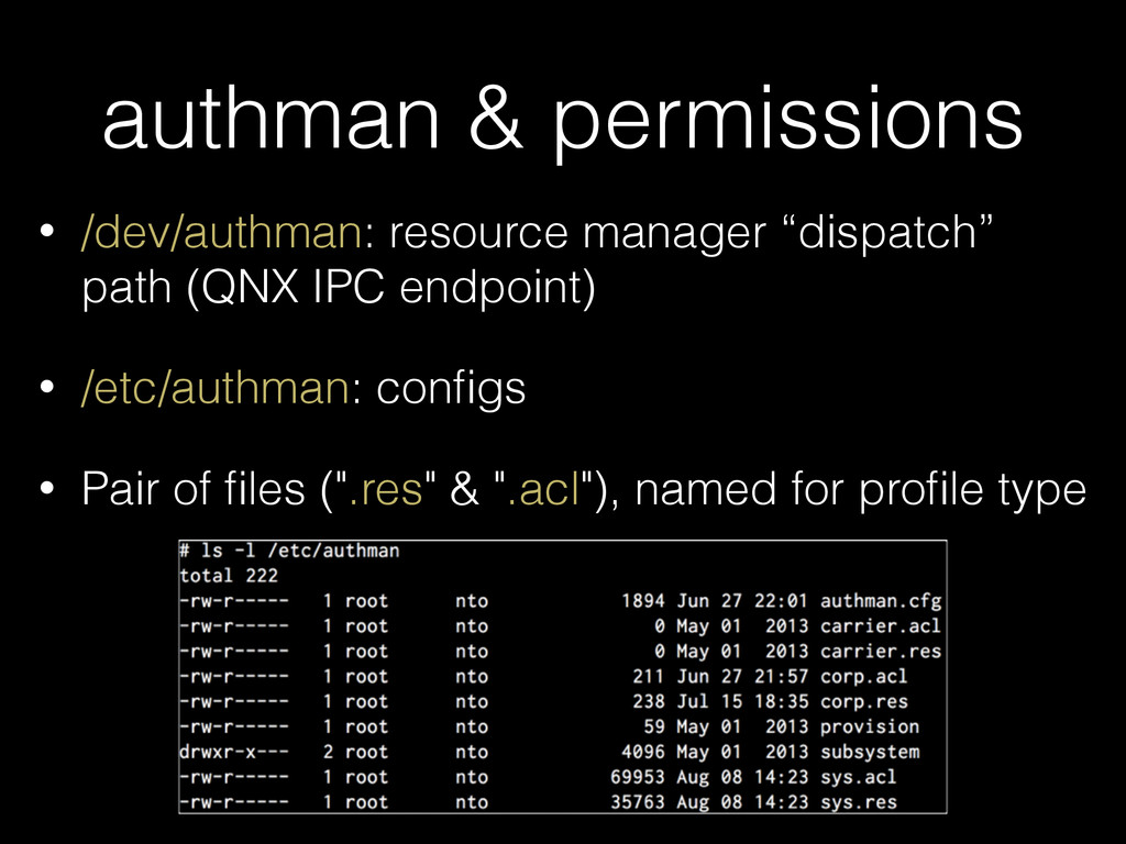 authman & permissions • /dev/authman: resource ...