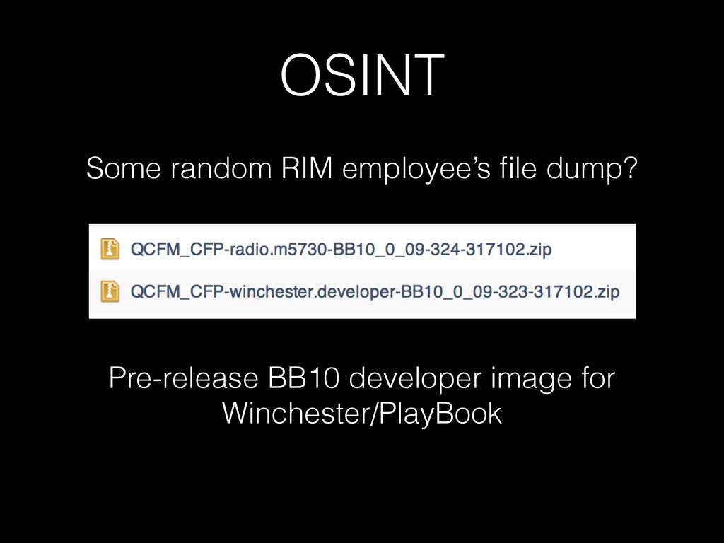 OSINT Some random RIM employee's file dump? Pre-...