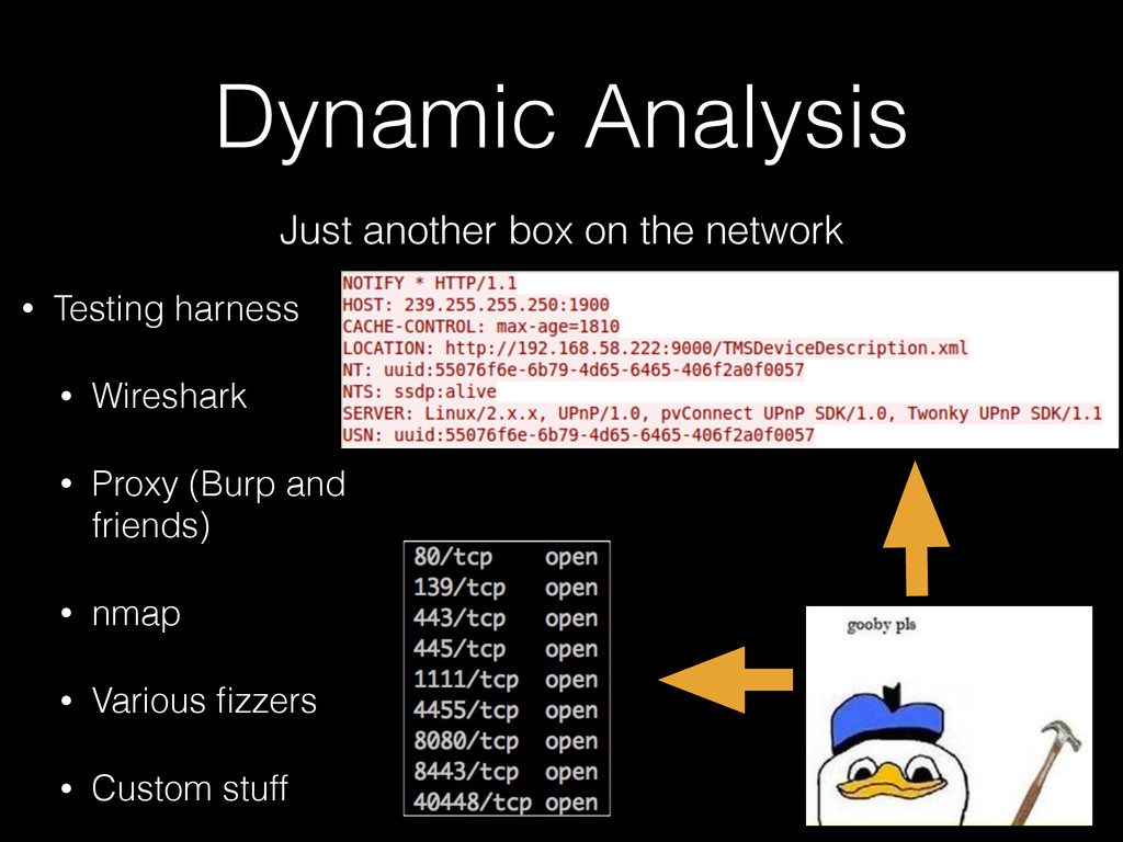 Dynamic Analysis Just another box on the networ...