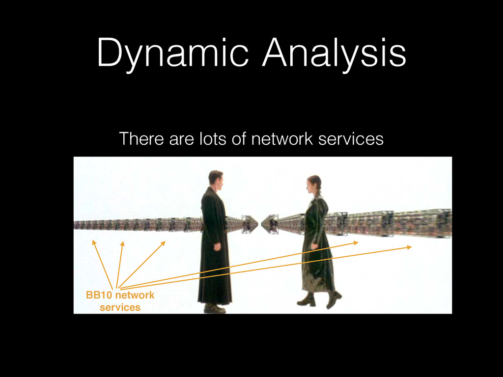 Dynamic Analysis There are lots of network serv...