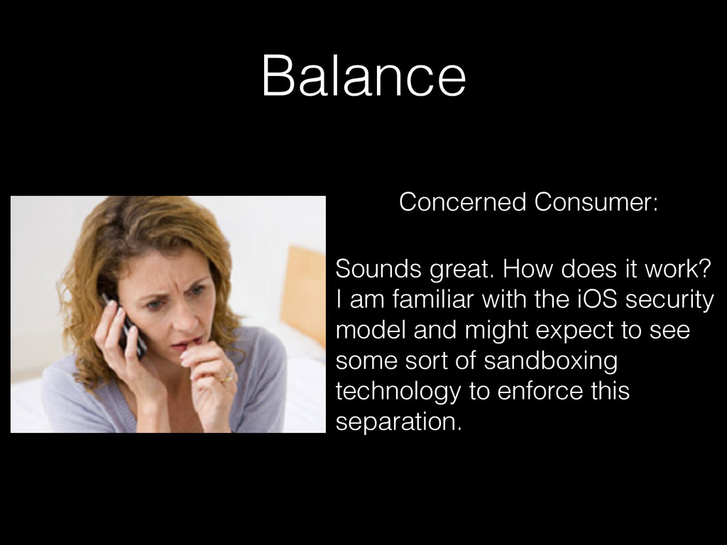 Balance Concerned Consumer: Sounds great. How d...