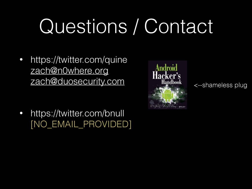 Questions / Contact • https://twitter.com/quine...
