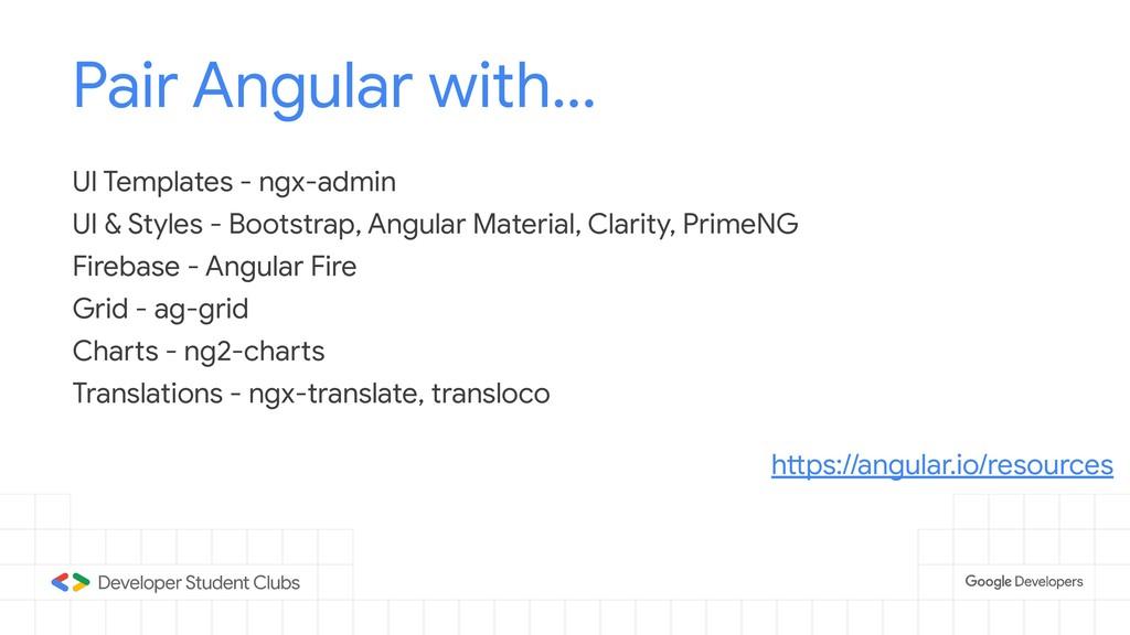 Pair Angular with... UI Templates - ngx-admin U...