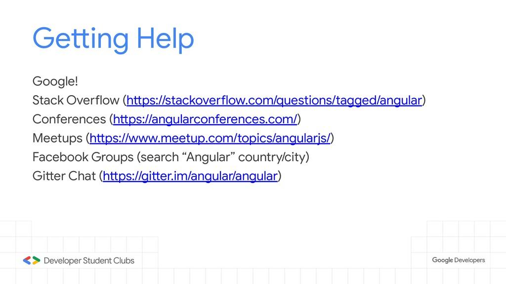 Getting Help Google! Stack Overflow (https://st...