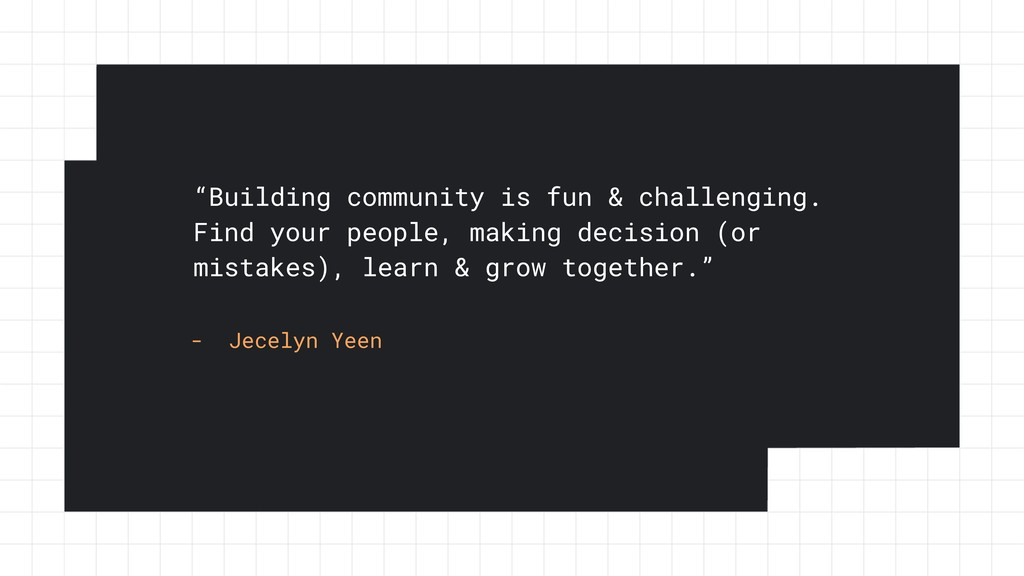 """""""Building community is fun & challenging. Find ..."""