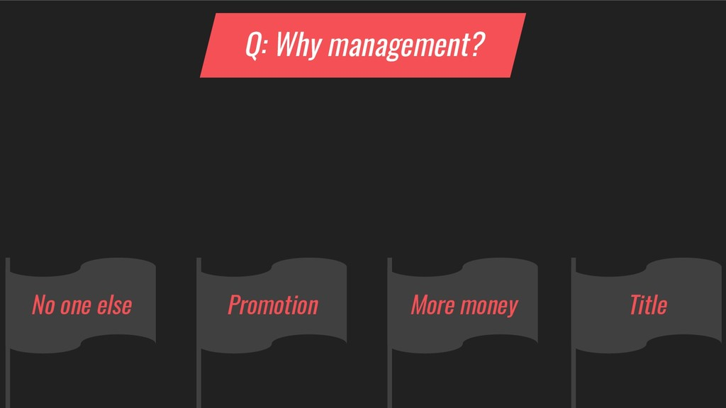 More money No one else Promotion Title Q: Why m...